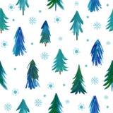 Modèle d'arbres de Noël Photographie stock libre de droits
