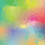 Modèle d'arc-en-ciel de polygone Photos libres de droits