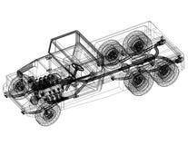 Modèle d'architecte de camion - d'isolement illustration stock
