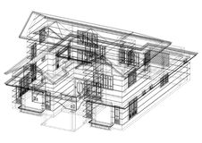 Modèle d'architecte de Chambre illustration libre de droits