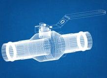 Modèle d'architecte de valve photos stock