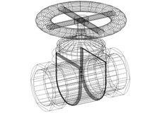 Modèle d'architecte de valve images stock