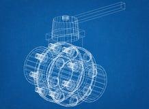 Modèle d'architecte de valve photo stock