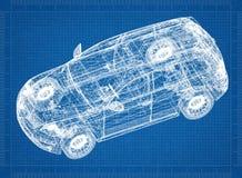 Modèle d'architecte de voiture illustration stock