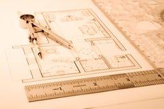 Modèle d'architecture Image libre de droits