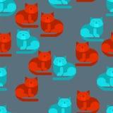 Modèle Dart De Pixel De Chat Sans Couture Backgroun à La