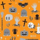 Modèle d'art de pixel de Halloween Photo libre de droits