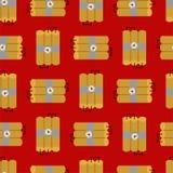 Modèle d'art de pixel de dynamite sans couture Backg de bit des explosifs 8 de TNT illustration stock