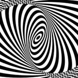 Modèle d'art op de vecteur Fond d'abrégé sur illusion optique illustration libre de droits