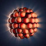 Modèle d'atome sur le fond bleu Photos libres de droits