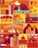 Modèle d'Australien de bande dessinée illustration stock