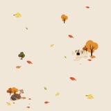 Modèle d'automne large Photo libre de droits