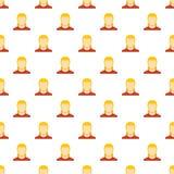 Modèle d'avatar de femme sans couture illustration stock