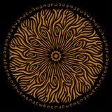 Modèle d'or avec le stmbol du soleil illustration de vecteur