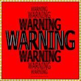 Modèle d'avertissement de signe de mots Images libres de droits