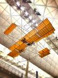 Modèle d'avion dans l'aéroport du HK Image libre de droits