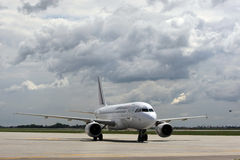 Modèle d'avions d'Air France Airbus A319 Photos stock
