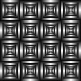 Modèle 3D carrelé noir et blanc abstrait Illusion optique géométrique illustration libre de droits