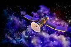 modèle 3D d'un satellite artificiel de la terre Images libres de droits