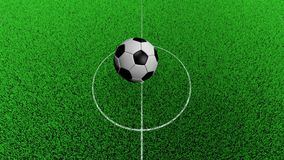modèle 3D de ballon de football Rebondissement de ballon de football sur le lancement du football banque de vidéos