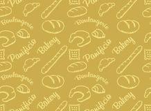 Modèle d'or de boulangerie Image stock