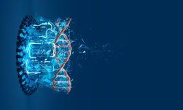 modèle 3D de l'ADN Photographie stock