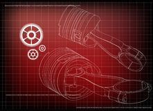 modèle 3d de piston et de vitesse illustration de vecteur
