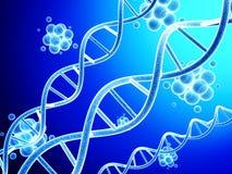 modèle 3d de structure et de molécules d'ADN Illustration Stock