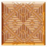 Modèle d'or de textile de brocard d'ornement floral Photographie stock libre de droits