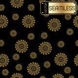 Modèle d'or de vecteur sans couture abstrait avec des remous sur le fond noir de texture Image libre de droits