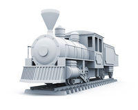 modèle 3D de vieille locomotive à vapeur Image stock