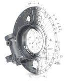 modèle 3d des pièces industrielles anciennes Image libre de droits