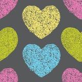 Modèle d'Eamless avec des coeurs illustration libre de droits
