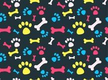 Modèle d'empreintes de pas d'animal familier Photo stock