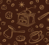 Modèle d'ensemble de café Images stock