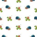 Modèle d'escargots d'aquarelle illustration libre de droits