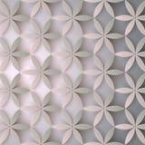 Modèle 3d floral Fleurs abstraites avec des ombres Texture élégante, fond de vecteur Conception à la mode colorée pour la copie Images libres de droits