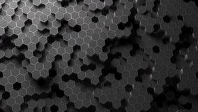 Modèle d'hexagone d'Absract rendu 3d illustration de vecteur