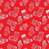 Modèle d'hiver avec des mitaines et des chaussettes Photos libres de droits