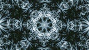 Modèle d'hiver Kaléidoscope bleu-clair Image libre de droits