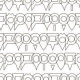 Modèle d'icône de goupille de carte Photo libre de droits