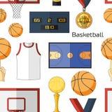 Modèle d'icônes de basket-ball Photographie stock