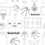 Modèle d'icônes de basket-ball Photo libre de droits