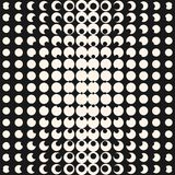 Modèle d'image tramée de Ggeometric Effet d'illusion optique Conception moderne de style de hippie illustration de vecteur