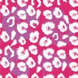 Modèle d'impression de léopard Répétition du fond animal sans couture Image stock