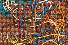 Modèle d'impression de l'électronique Image stock