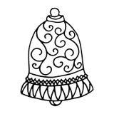Modèle d'isolement avec l'ornement floral de dentelle pour la collection de Noël Images libres de droits