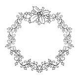 Modèle d'isolement avec l'ornement floral de dentelle pour la collection de Noël Photographie stock