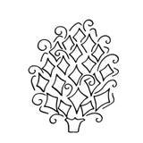 Modèle d'isolement avec l'ornement floral de dentelle pour la collection de Noël Photos stock