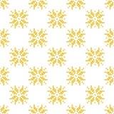 Modèle d'or norvégien d'hiver géométrique Photos libres de droits